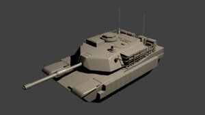 free m1a1 abrams tank 3d model