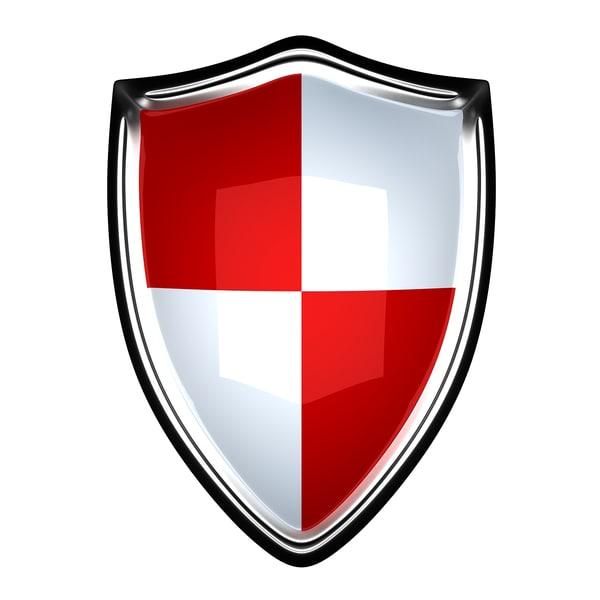shield icon 3d max