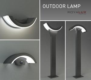 outdoor lamp royalux 3d max