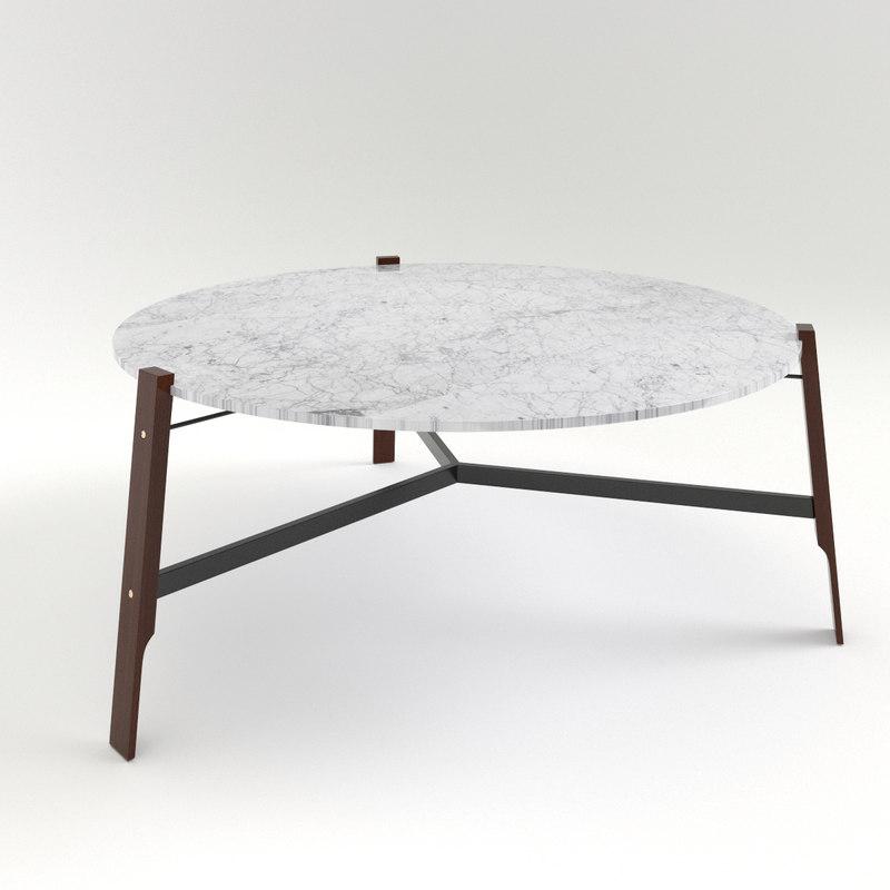 3d model blu coffee tables