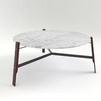 3d model blu coffee tables