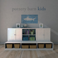 3d pottery barn cameron storage model