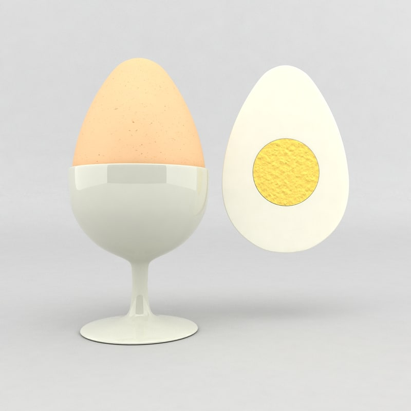 egg shell white 3d model
