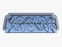 Wrought Iron fence 01