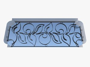 3d wrought iron fence metal