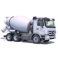 mercedes actros mixer truck 3d max