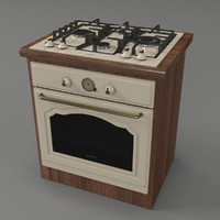 3d model of oven stove gorenje