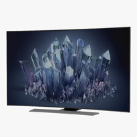generic curved tv 2 3d max