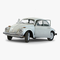 Volkswagen Beetle 1966 Rigged White