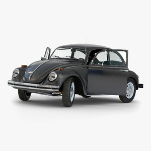 volkswagen beetle 1966 rigged 3d max