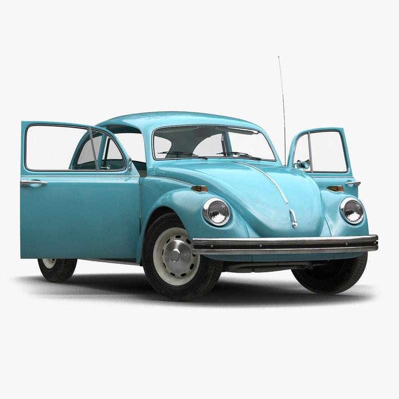 3ds max volkswagen beetle 1966 rigged