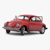 3d volkswagen beetle 1966 rigged