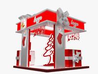 3d christmas kiosk booth