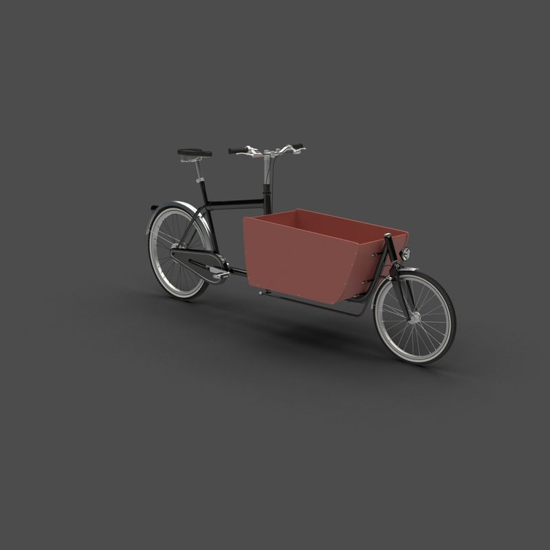 freight bicycle cargo bike 3d model
