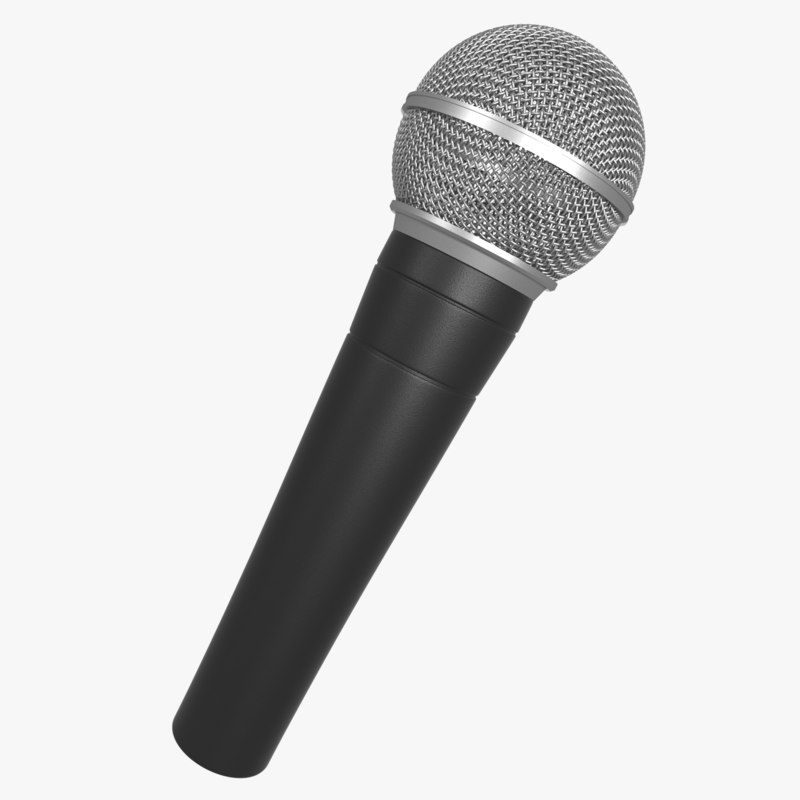 3d realistic microphone