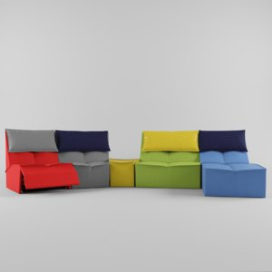 3d model modularity sofa