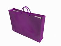 3d shopping bag model