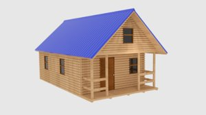 log cabin 3ds