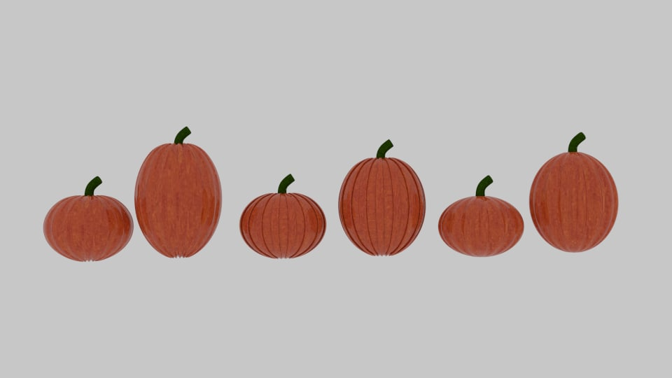 3d model pumpkin pack