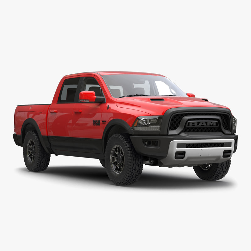 dodge ram rebel 2016 3d model