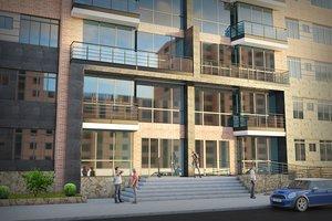 3d model scene alc residential building
