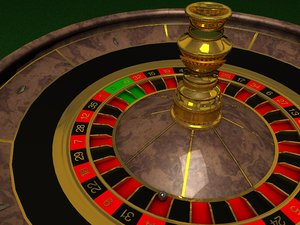 3d roulette table wheel