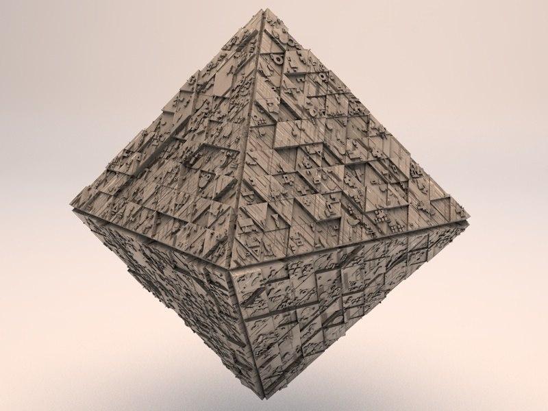 sci-fi shapes - diamond 3d 3ds
