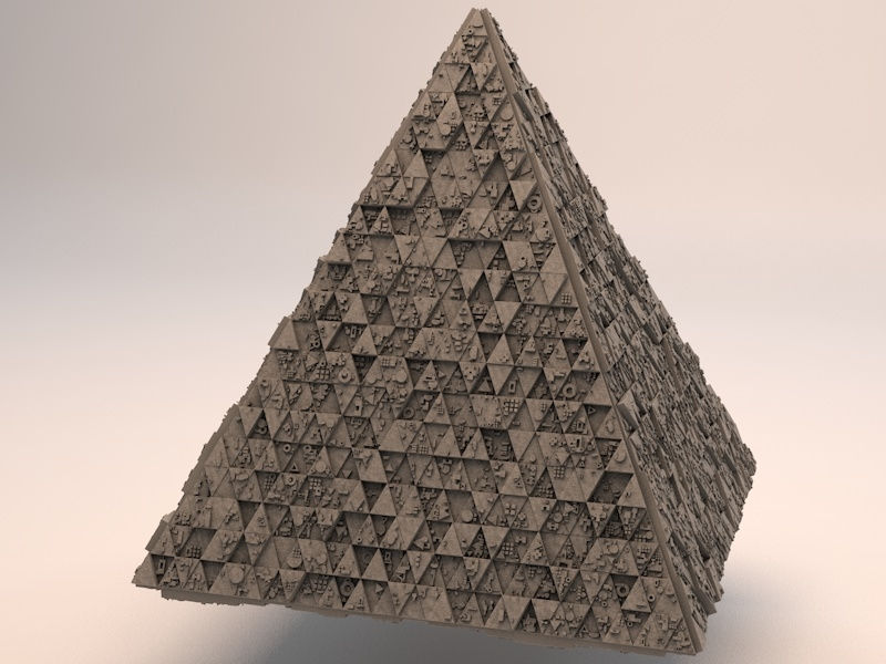 3d sci-fi shapes - pyramid