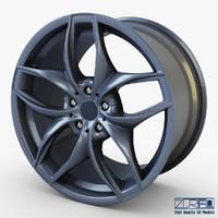 style 215 wheel ferric 3d model