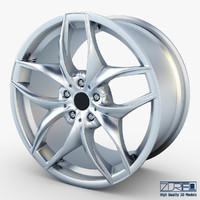 style 215 wheel silver 3d fbx