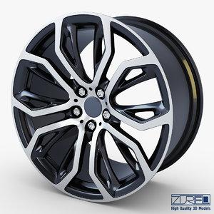 style 375 wheel black 3d max