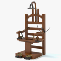 3d electric chair model