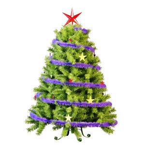 3d model tree tinsel