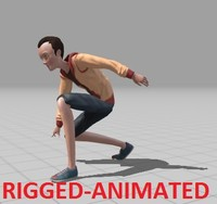 Boy rigged and animated