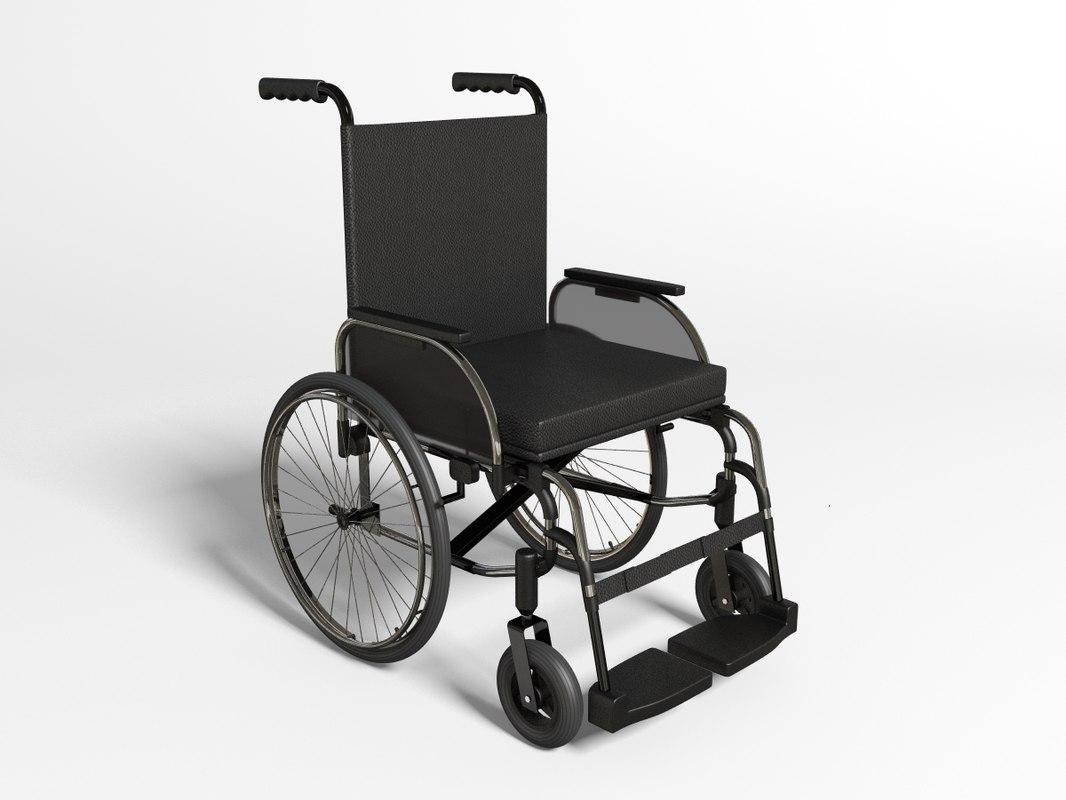 wheelchair chair wheel 3ds