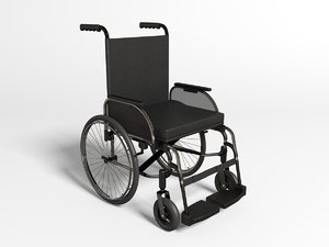 wheelchair chair wheel 3ds