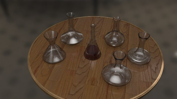 wine decanter 3d model