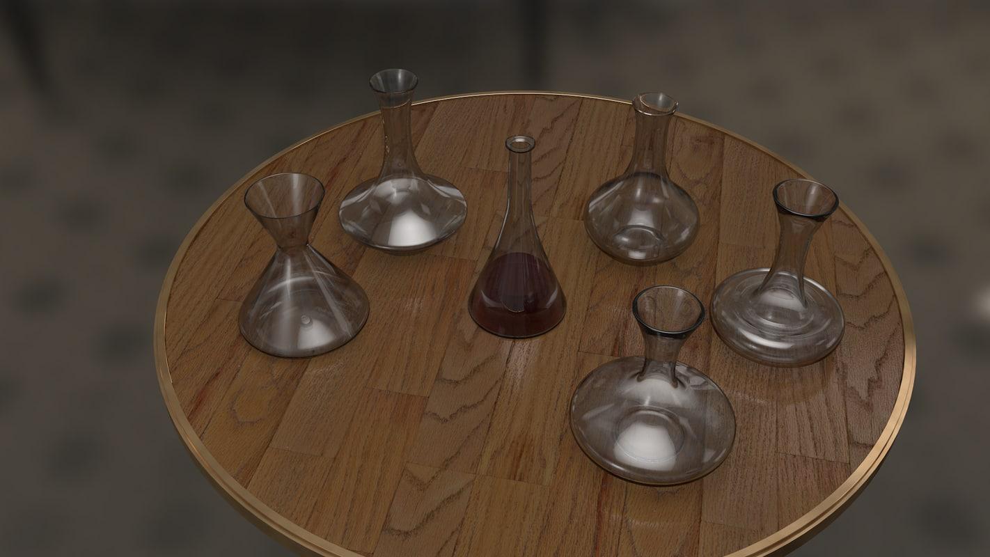wine decanter 3d model