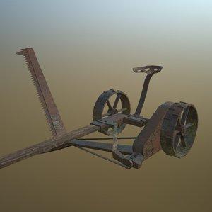 3d model of sickle mower