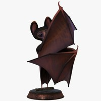 cartoon bat rigged 3d obj