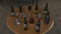 Collection of Wine Bottles & Decanters