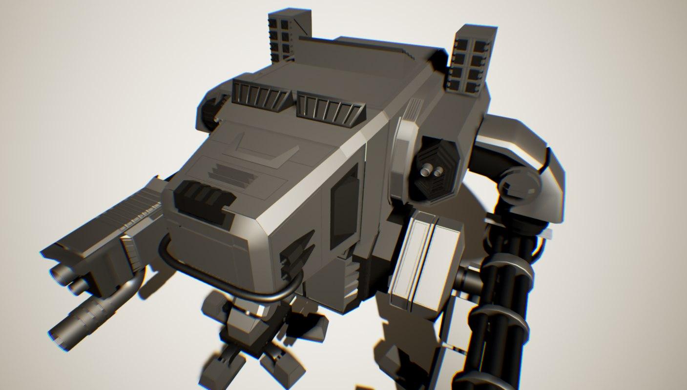 3d model robot mech machine