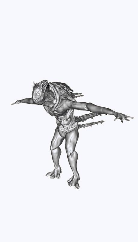 alien hybrid obj