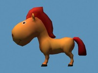 3d model cartoon horse