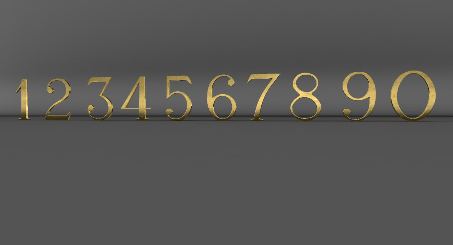 max polished door numbers