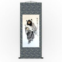 Chinese Hanging Scroll Brush Painting - Figure of Zhong Gui