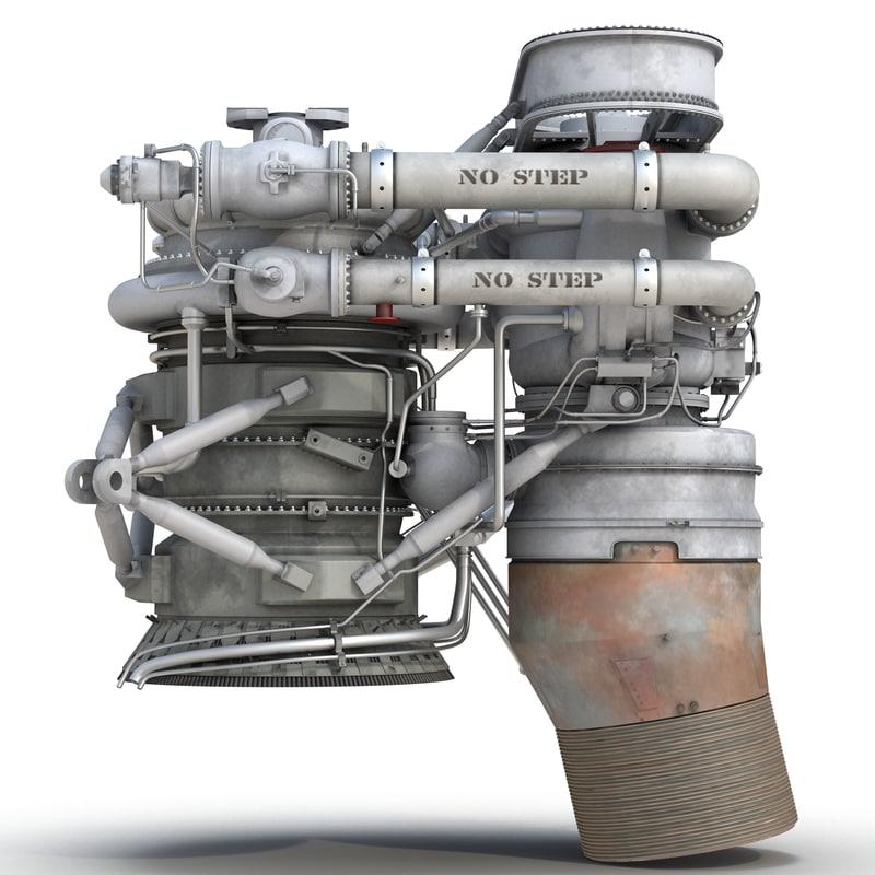 rocket engine 3d model