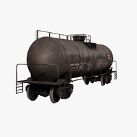 3d model railroad oil tanker