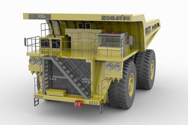 3d komatsu 930e mining truck model