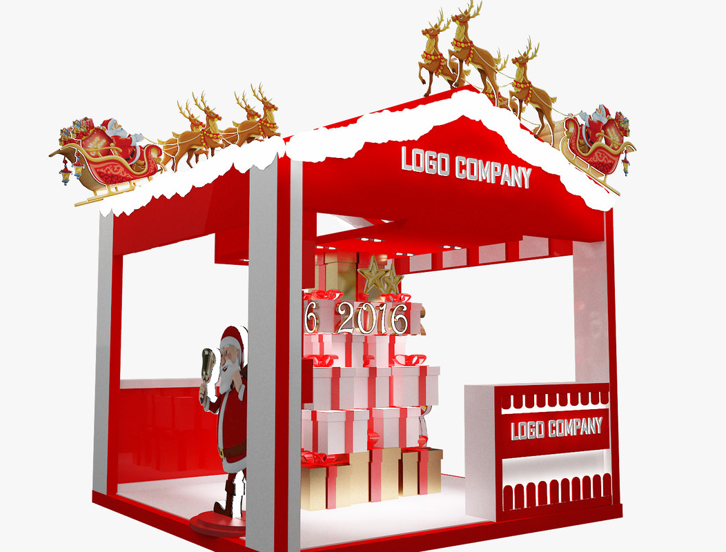 obj christmas kiosk booth